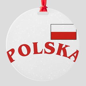 Polska-withflag Round Ornament