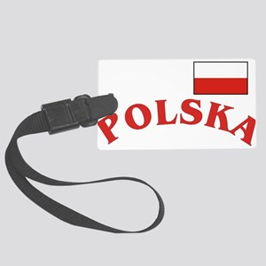 Polska-withflag Large Luggage Tag