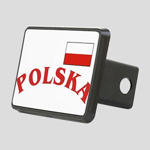 Polska-withflag Rectangular Hitch Cover