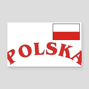Polska-withflag Rectangle Car Magnet