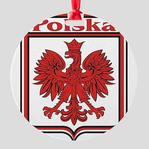 Polska Crest Shield Round Ornament