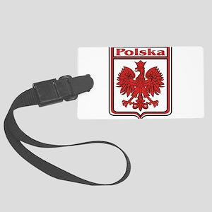 Polska Crest Shield Large Luggage Tag