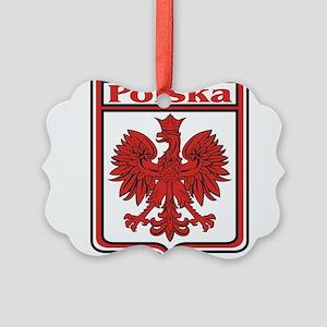 Polska Crest Shield Picture Ornament