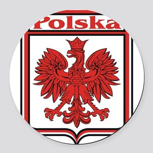 Polska Crest Shield Round Car Magnet