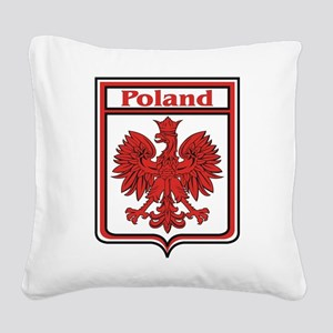Poland Shield / Polska Square Canvas Pillow