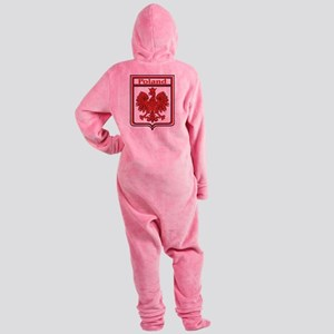 Poland Shield / Polska Footed Pajamas