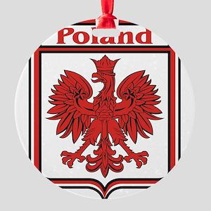 Poland Shield / Polska Round Ornament
