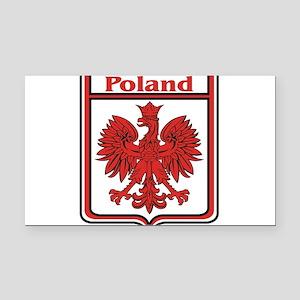 Poland Shield / Polska Rectangle Car Magnet