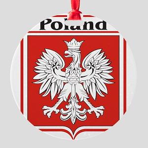 Poland-shield Round Ornament