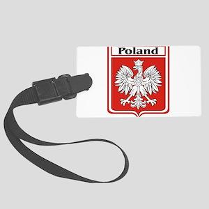 Poland-shield Large Luggage Tag