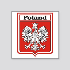 """Poland-shield Square Sticker 3"""" x 3"""""""