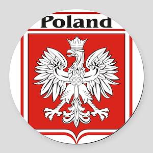 Poland-shield Round Car Magnet
