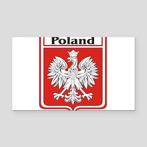 Poland-shield Rectangle Car Magnet