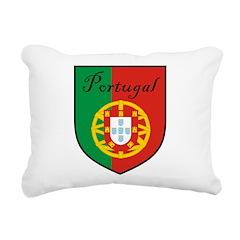 Portugal Flag Crest Shield Rectangular Canvas Pill
