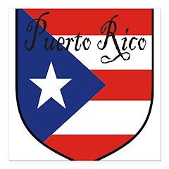 PuertoRico-Shield Square Car Magnet 3