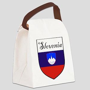 Slovenia Flag Crest Shield Canvas Lunch Bag
