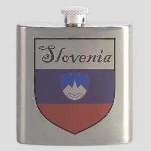 Slovenia Flag Crest Shield Flask
