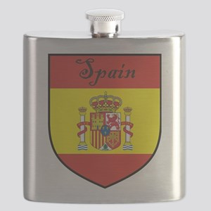 Spain Flag Crest Shield Flask