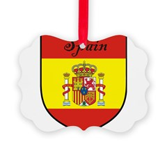 Spain Flag Crest Shield Ornament