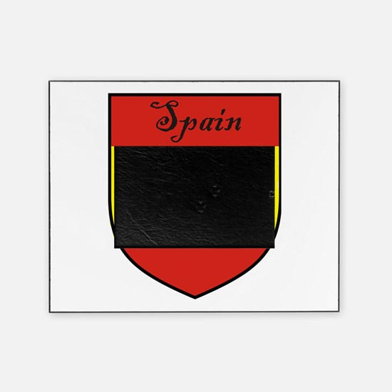 Spain Flag Crest Shield Picture Frame