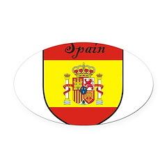 Spain Flag Crest Shield Oval Car Magnet