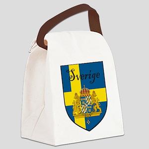 Sverige Flag Crest Shield Canvas Lunch Bag