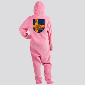Sverige Flag Crest Shield Footed Pajamas