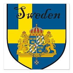 SwedenSHIELD.png Square Car Magnet 3