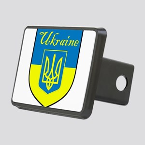 Ukraine Flag Crest Shield Rectangular Hitch Cover