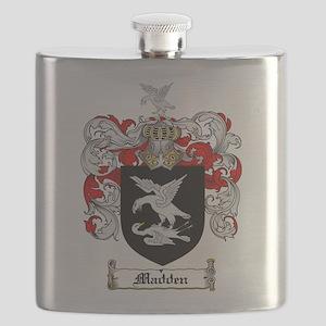 Madden Family Crest Flask