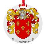 Maldonado Family Crest Round Ornament