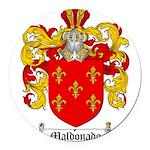 Maldonado Family Crest Round Car Magnet
