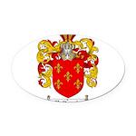 Maldonado Family Crest Oval Car Magnet