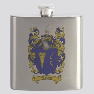 Maloney Family Crest Flask