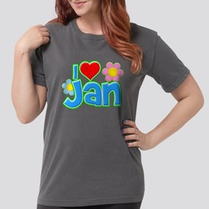 I Heart Jan Womens Comfort Colors Shirt