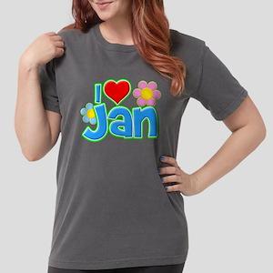 I Heart Jan Womens Comfort Colors Shirt
