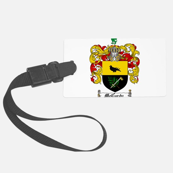 McCurdy Family Crest Luggage Tag