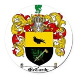 McCurdy Family Crest Round Car Magnet