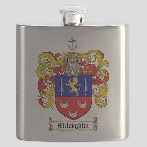 McLaughlin Family Crest Flask