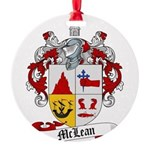 McLean Family Crest Round Ornament