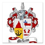 McLean Family Crest Square Car Magnet 3