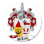 McLean Family Crest Round Car Magnet