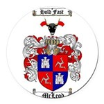 McLeod Family Crest Round Car Magnet