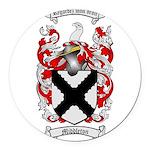 Middleton Family Crest Round Car Magnet