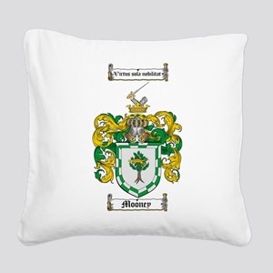 Mooney Family Crest Square Canvas Pillow