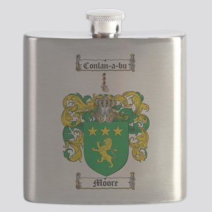 Moore Family Crest Flask