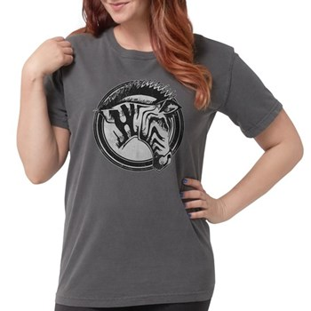 Distressed Wild Zebra Stamp Womens Comfort Colors