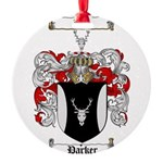 Parker Family Crest Round Ornament