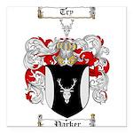 Parker Family Crest Square Car Magnet 3