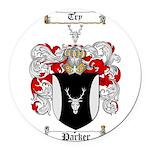 Parker Family Crest Round Car Magnet